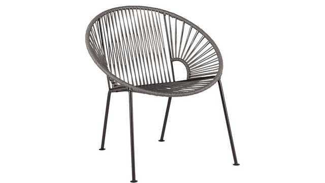 ixtapa grey lounge chair - CB2