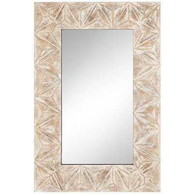 "Danz Triangle Cut Natural 26 1/2"" x 39 1/2"" Wall Mirror - Lamps Plus"