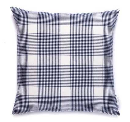 PETITE PLAID PILLOW IN Navy - 20x20 - insert sold separately - Caitlin Wilson