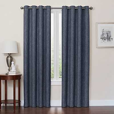 Quinn 84-Inch Grommet Top 100% Blackout Window Curtain Panel in Navy - Bed Bath & Beyond