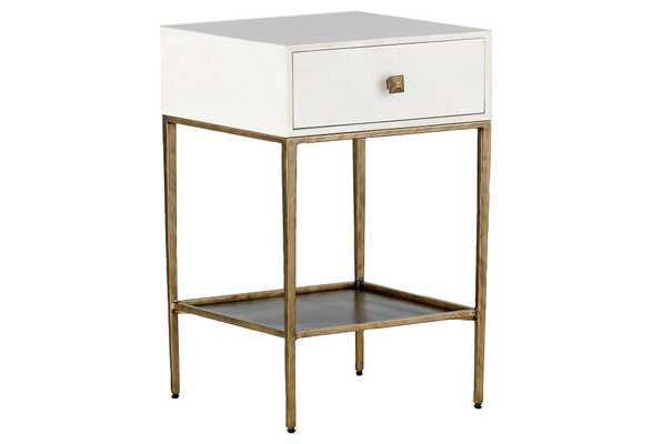 May Nightstand, White - One Kings Lane