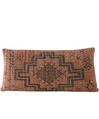 Folk Tale Lumbar Pillow, Rust - High Street Market