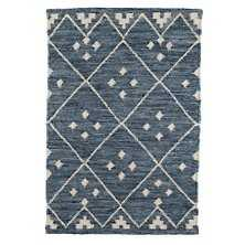 KOTA INDIGO WOVEN WOOL RUG - Dash and Albert
