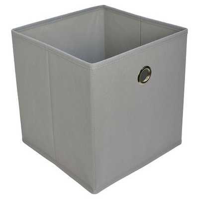 "Fabric Cube Storage Bin 11"" - Room Essentials-Gray - Target"