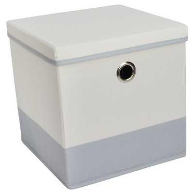 "Lidded Cube Storage Bin 11"" - Room Essentials - Target"