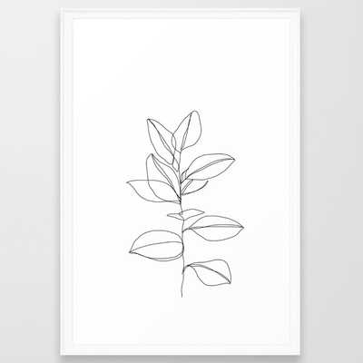 One line plant illustration - Dany - Scoop White- Large 26 x 38 - Society6