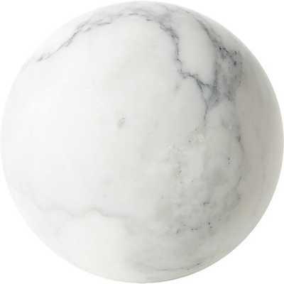 White Marble Sphere - CB2