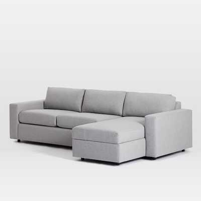 Urban Sleeper Sectional W/ Storage, Right Chaise 2-Piece Sectional - West Elm