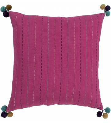 ZEBA PILLOW, PINK - 20x20 - Polyester Insert - Lulu and Georgia