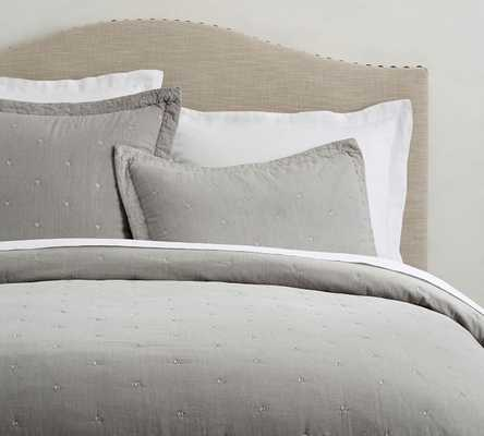 TRIANGLE STITCH WASHED COTTON QUILT - Pottery Barn