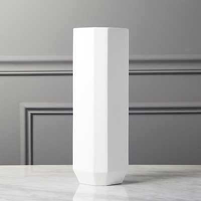 intermix white tall vase - CB2