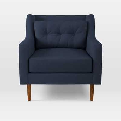 Crosby Armchair, Twill, Regal Blue - West Elm