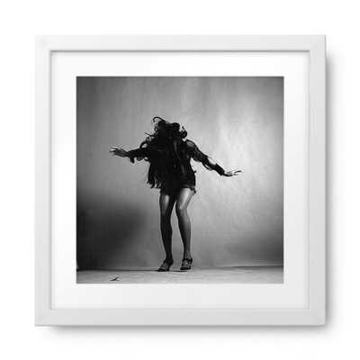 """Portrait Of Tina Turner - 16.5 x 16.5"""" - White Frame - Photos.com by Getty Images"""