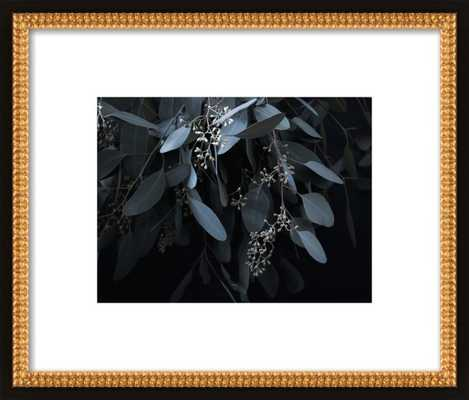 "Miss Jade- 14x11""- Framed - Flat black double bead wood - Artfully Walls"