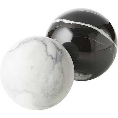 Black Marble Sphere - CB2