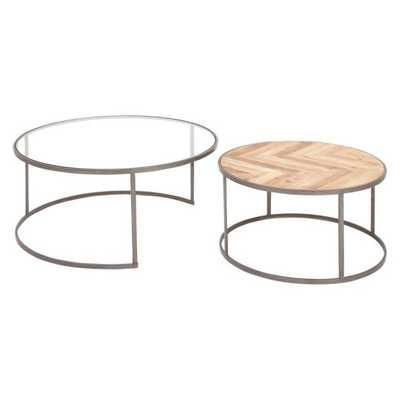 DecMode Round Coffee Table - Set of 2 - Hayneedle