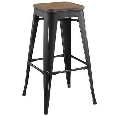 PROMENADE BAR STOOL IN BLACK - Modway Furniture