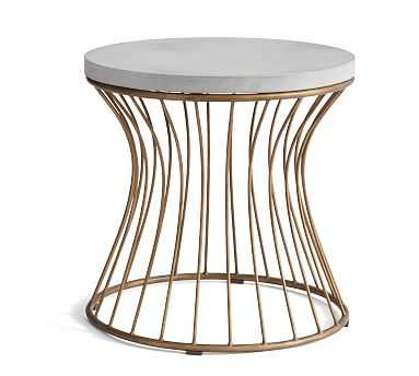 Lima Side Table, Brass - Pottery Barn