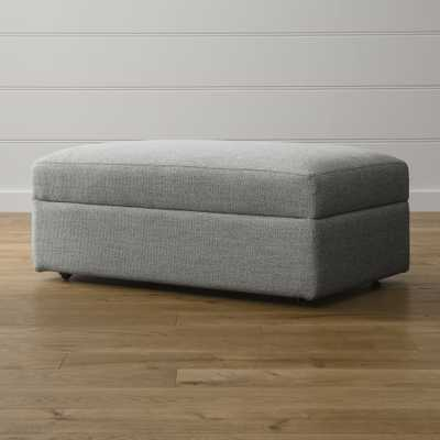 Lounge II Storage Ottoman with Casters - Crate and Barrel