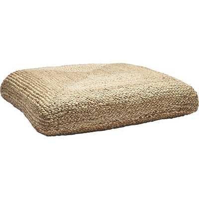 Braided Jute Floor Cushion - CB2