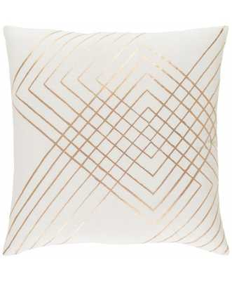 "Intersect Pillow - Cream - 22"" x 22"" - Poly Filled - Lulu and Georgia"