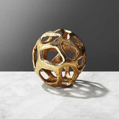 meteor small brass sphere - CB2