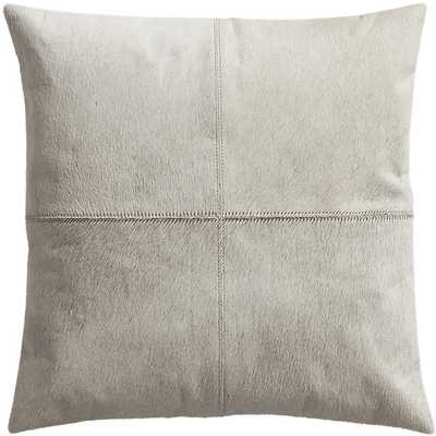 "18"" abele white cowhide pillow with down-alternative insert - CB2"