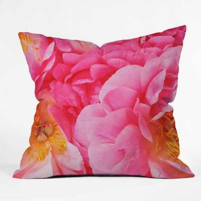 HOT PINK PEONY Pillow - Wander Print Co.