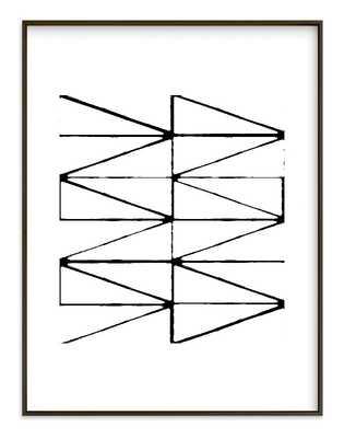 """Visionary 2 - 40""""x54"""", Black frame, white border - Minted"""