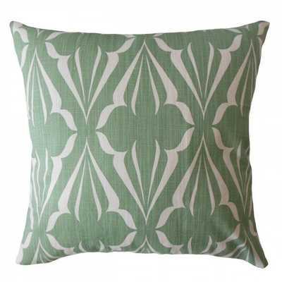 "Jacquez Geometric Pillow Succulent-18"" x 18""-Insert included - Linen & Seam"