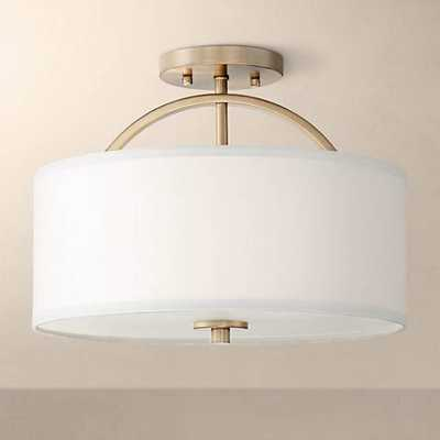 "Possini Euro Halsted 15"" Wide Warm Brass Ceiling Light - Lamps Plus"