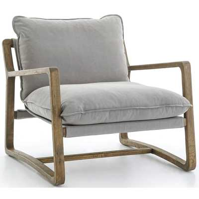 Ace Chair, Robson Pewter - High Fashion Home