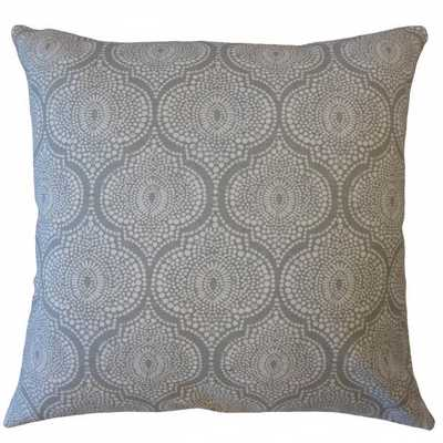 "Dov Geometric Pillow Grey - 18""x18"" with down insert - Linen & Seam"