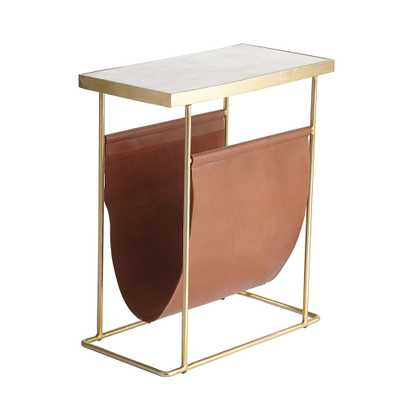 MODERN MAGAZINE SIDE TABLE - Wisteria