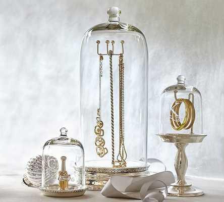 GLASS CLOCHE JEWELRY STORAGE-WATCH/BRACELET CLOCHE - Pottery Barn