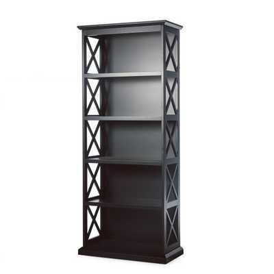 Belham Living Hampton 5-Tier Bookcase - Black - Hayneedle