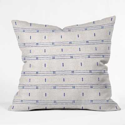 French Linen Stripe Outdoor pillow - 18'' x 18'' - Wander Print Co.