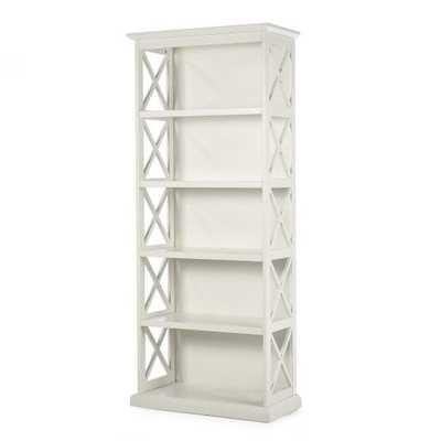 Belham Living Hampton 5-Tier Bookcase - White - Hayneedle