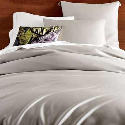 TENCEL® Duvet Cover - King, Platinum - West Elm