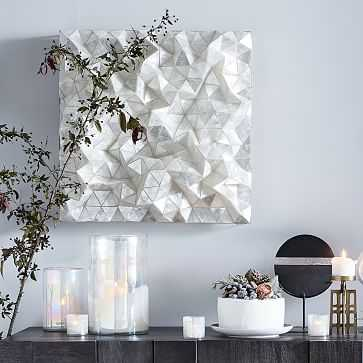 Capiz Wall Art, Faceted Square - West Elm