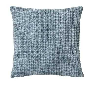 "Honeycomb Pillow Cover, 18"", Faded Blue - Pottery Barn"