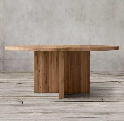 RECLAIMED RUSSIAN OAK PLANK ROUND DINING TABLE - RH Modern