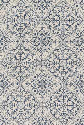 "FRANCESCA Rug IVORY / BLUE 7'-6"" x 9'-6"" - Loma Threads"