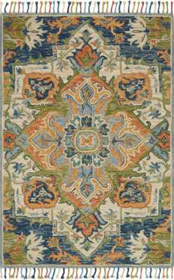 "ZHARAH Rug BLUE / MULTI 7'-9"" x 9'-9"" - Loma Threads"