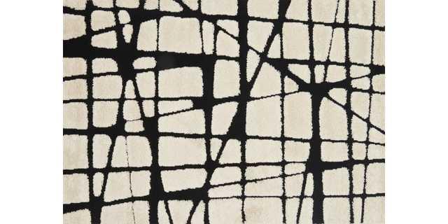 "ENCHANT Rug WHITE / BLACK 7'-7"" X 10'-6"" - Loma Threads"