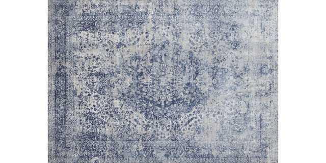 "PATINA Rug BLUE / STONE 6'-7"" X 9'-2"" - Loma Threads"