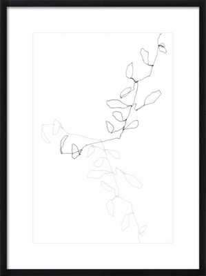 "Eucalyptus 1, 20"" x 28"" Print with Black Wood, frame width 0.75"", depth 1.25"" - Artfully Walls"