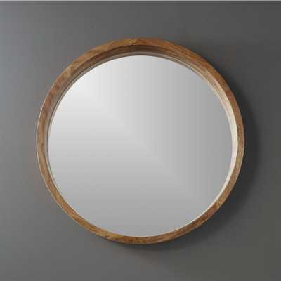 """acacia wood 24"""" wall mirror"" - CB2"