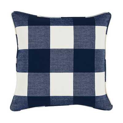 """Buffalo Check Pillow - Indigo - 20"""" - Ballard Designs"""