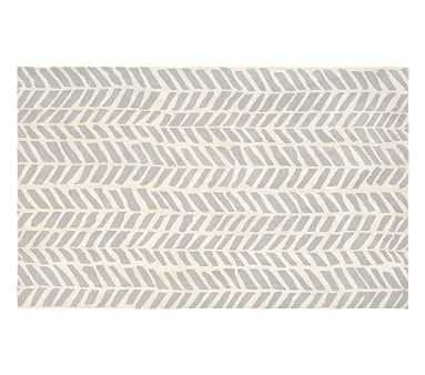 Chevron Arrows Rug, 5x8', Gray - Pottery Barn Kids